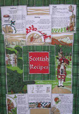 EL597 Scottish Recipies teatowels