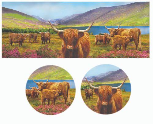 FC001/A Lyric beaker - Highland cows
