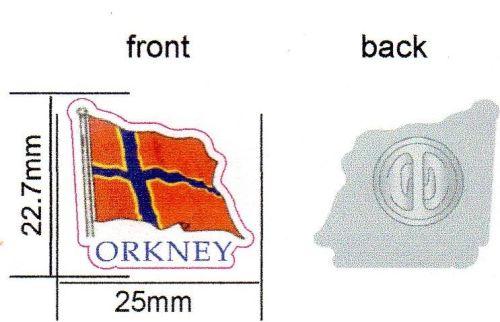 KB032 Metal Pin badge - Orkney flag