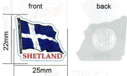 KB032 Metal pin badge - Shetland flag