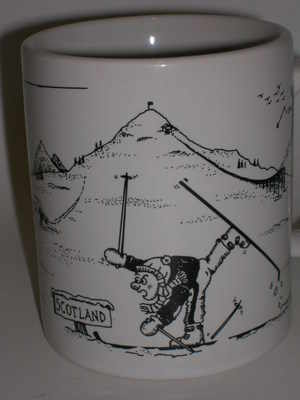 pottery, York or Balmoral beaker  - skiing calamities