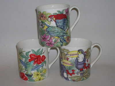 FC003  beaker-Tropical birds
