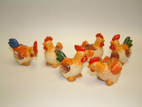 Mini cock & hen