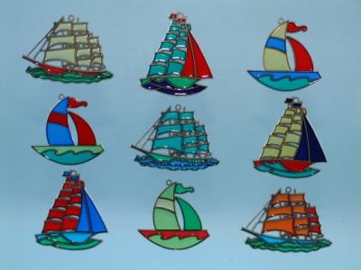 17214 - sail ships suncatchers