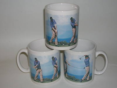 Pottery mug - Male golfer
