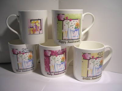 FC003  beaker - Assorted wedding anniversaries