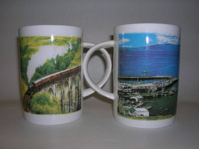 FC001/A Lyric beaker - Scenes of Mallaig & Glenfinnan Viaduct