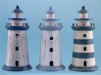15127 Lighthouse bank - 3 assorted
