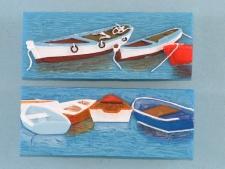 21704 Boat scene magnet