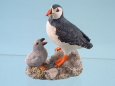 11677 Puffin with chick - 11cm