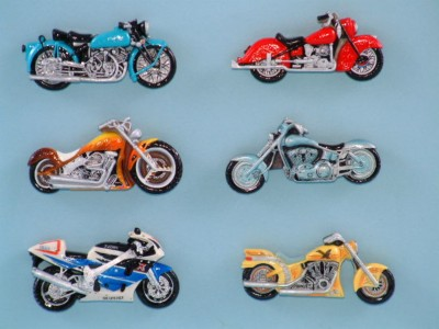 21601 magnet - Motorbikes - 6 assorted