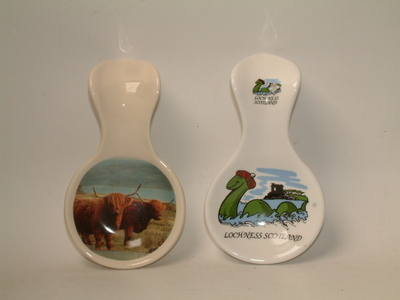 FC022 Spoonrest -A/ Highland cows B/ Nessie