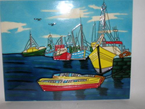 12149 Anchored boats - A