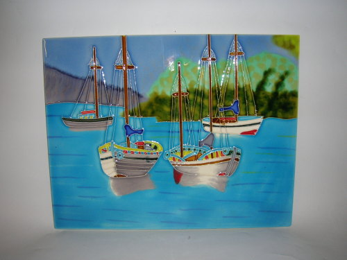12149 Anchored boats - B