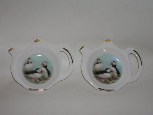 FC024 Tea-bag rest - Puffins