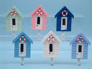 Beach hut wall hooks