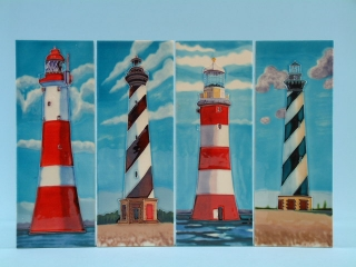 Ceramic plaque - lighthouses