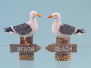 11601 Seagull on beach sign - 8cm