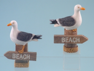 11600 Seagull on beach sign - 10cm