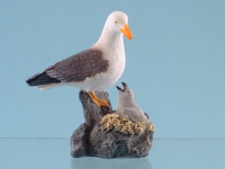 11610 Seagull with chick - 8.5cmH