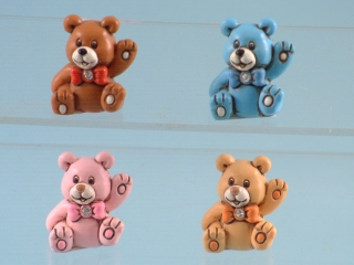 10260 Mini colourful teddy bears - 3cm