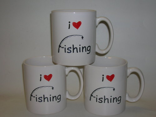 FC008 Pottery mug - I Love Fishing
