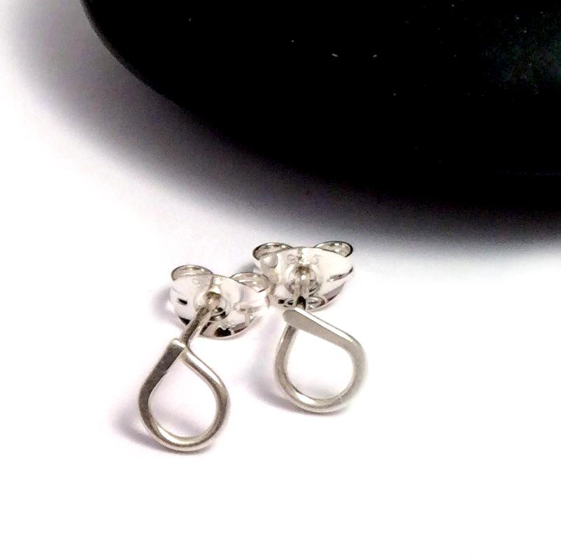 Teardrop Stud Earrings | Sterling Silver