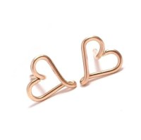 Heart Stud Earrings | Gold Filled