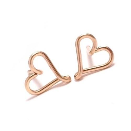 Heart Stud Earrings | Gold Filled