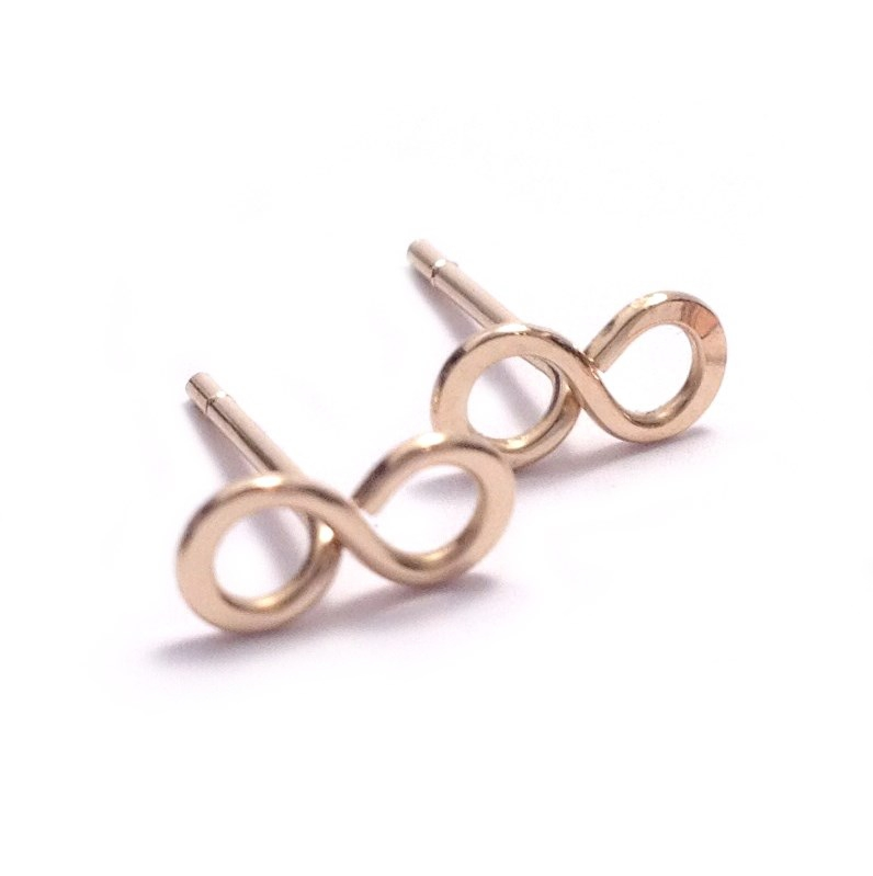 Infinity Stud Earrings | Gold Filled