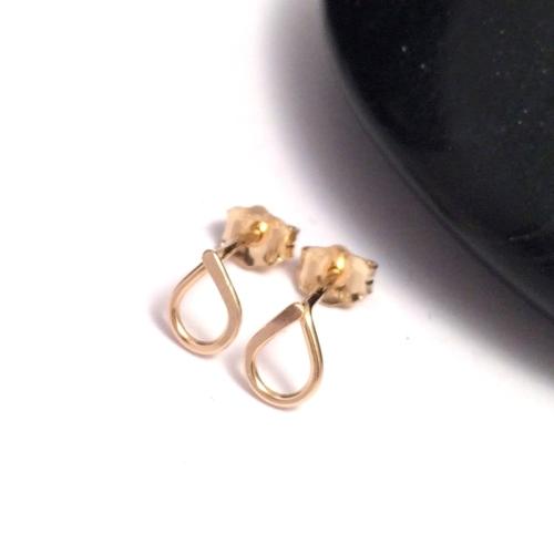 Teardrop Stud Earrings   Gold Filled