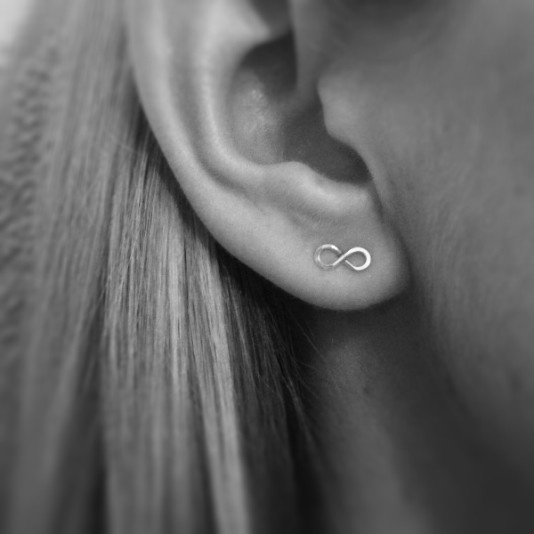 Infinity Stud Earrings | Sterling Silver