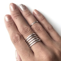 Sterling Silver Wrap Around Ring - 5 Band
