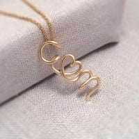 Couples Initials Necklace | Gold Filled