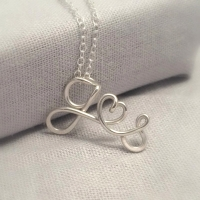 Silver Double Initials Necklace