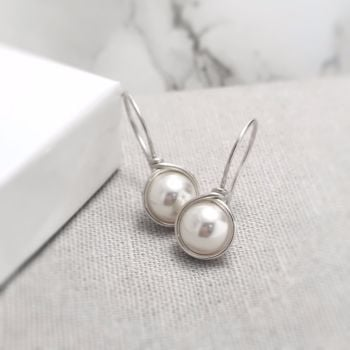 Drop Pearl Earrings | Sterling Silver