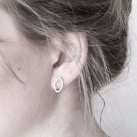 Marquis Silver Stud Earrings