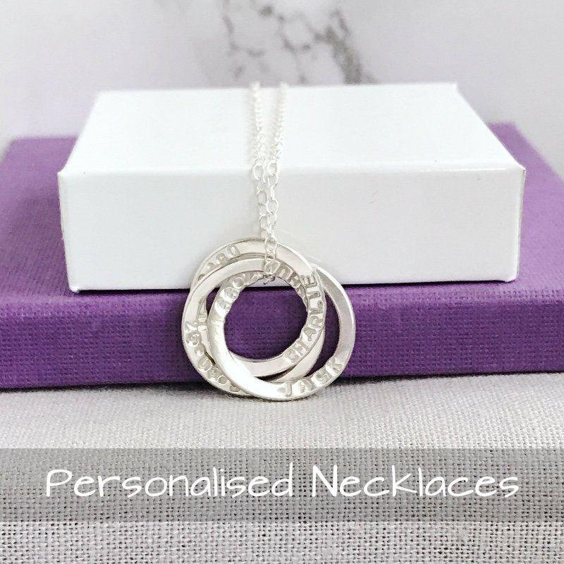 Personalised Handstamped Necklaces | Handmade Jewellery UK