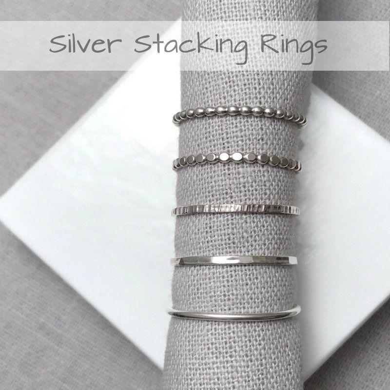 Sterling Silver Stacking Rings | Handmade Jewellery UK