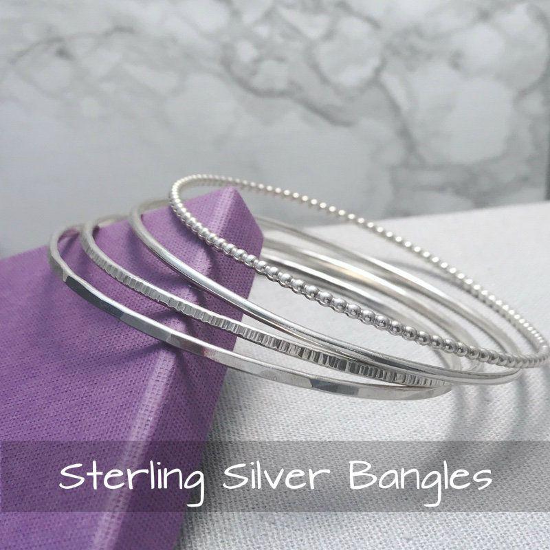 Sterling Silver Bangles | Handmade Jewellery UK