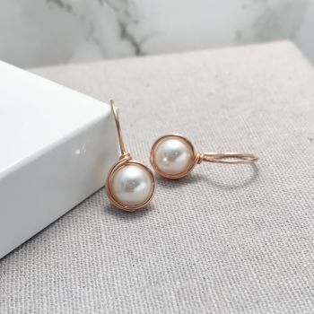 Drop Pearl Earrings | Rose Gold Filled