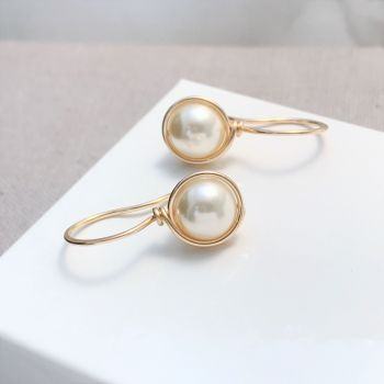 Drop Pearl Earrings | Gold Filled