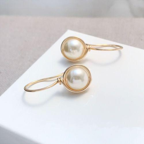 Drop Pearl Earrings | Gold Filled