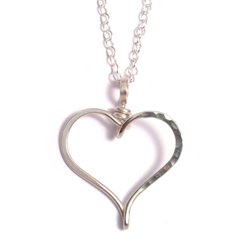 Open Heart Necklace | Sterling Silver