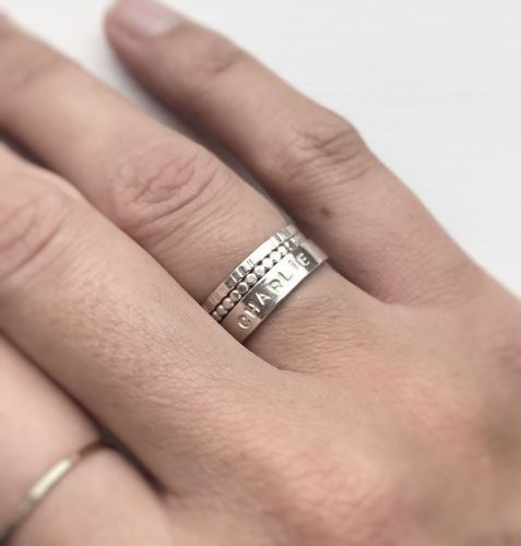 Personalised Stamped Silver Ring (5)a Kian Designs Handmade Jewellery UK