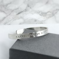 Personalised Sterling Silver Open Bangle