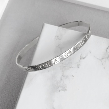 Personalised Sterling Silver Bangle