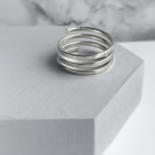 Sterling Silver Wrap Around Ring - 3 Band