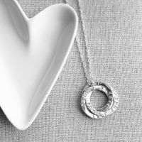 Sterling Silver Personalised Triple Circle Necklace