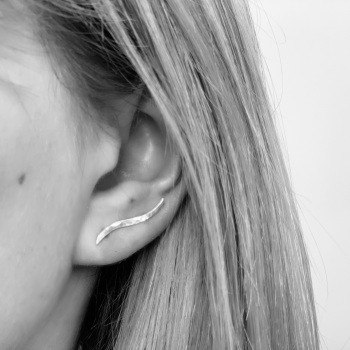 Sterling Silver Wave Ear Climbers